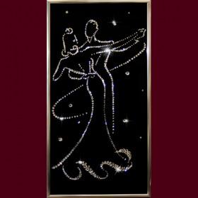 """Картина с кристаллами Swarovski """"Вальс"""""""