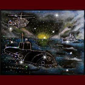 """Картина с кристаллами Swarovski """"Дальний Восток"""""""