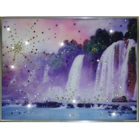 "Картина с кристаллами Swarovski ""Долина Водопадов"""
