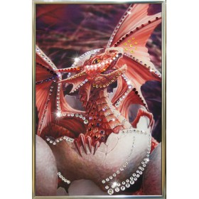"Картина с кристаллами Swarovski ""Дракончик"""