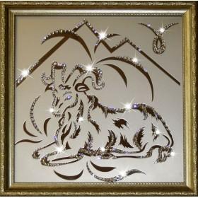 "Картина с кристаллами Swarovski ""Овен 35х35 см"""
