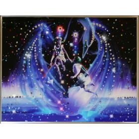 """Картина с кристаллами Swarovski """"Близнецы Кагая"""""""