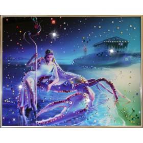 """Картина с кристаллами Swarovski """"Рак Кагая"""""""