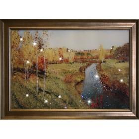 """Картина с кристаллами Swarovski """"Золотая осень"""""""