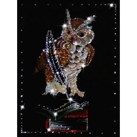 "Картина с кристаллами Swarovski ""Мудрая сова"""