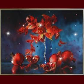 "Картина с кристаллами Swarovski ""Натюрморт гранат"""