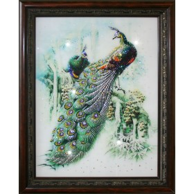 "Картина с кристаллами Swarovski ""Павлины"""