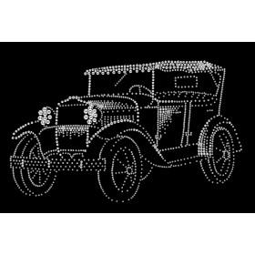 "Картина с кристаллами Swarovski ""Ретро-автомобиль"""