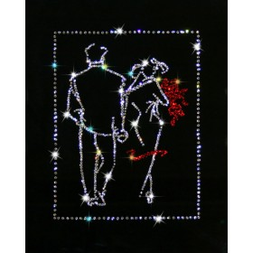 "Картина с кристаллами Swarovski ""Свидание"""
