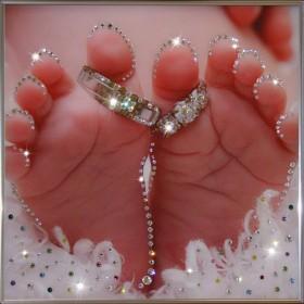 """Картина с кристаллами Swarovski """"Семейное счастье"""""""