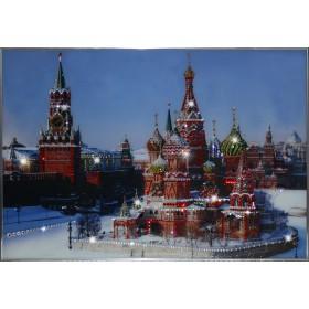 """Картина с кристаллами Swarovski """"Собор Василия Блаженного"""""""