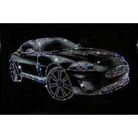 """Картина с кристаллами Swarovski """"Спортивный автомобиль"""""""