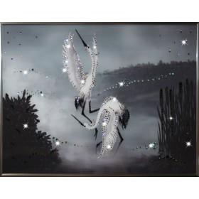 "Картина с кристаллами Swarovski ""Танец журавлей"""