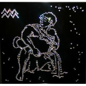 "Картина с кристаллами Swarovski ""Водолей 25х25 см"""