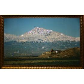 "Картина с кристаллами Swarovski ""Гора Арарат (Сис Масис)"""