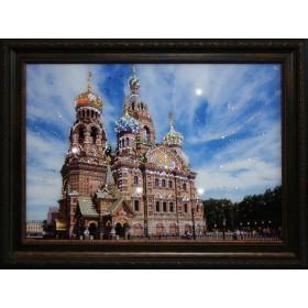 """Картина с кристаллами Swarovski """"Храм Спаса-на-Крови"""""""