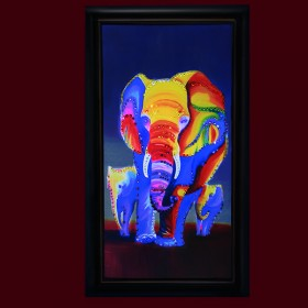 """Картина с кристаллами Swarovski """"Слоны 1"""""""