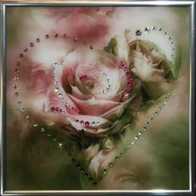 "Картина с кристаллами Swarovski ""Сердечко №3"""