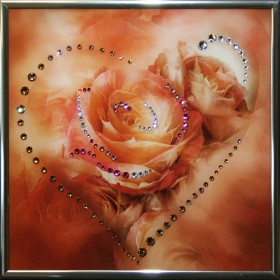 "Картина с кристаллами Swarovski ""Сердечко №4"""