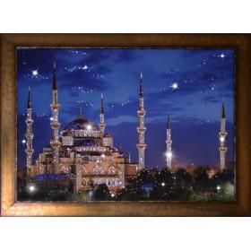 """Картина с кристаллами Swarovski """"Синяя Мечеть"""""""
