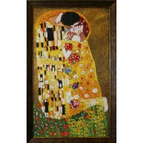 "Картина с кристаллами Swarovski ""Поцелуй Климт"""