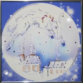 "Картина с кристаллами Swarovski ""Над городом"""