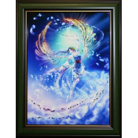 """Картина с кристаллами Swarovski """"Вихрь"""""""