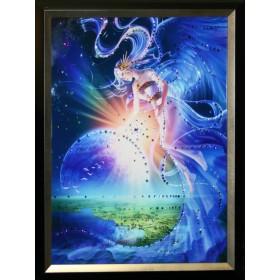 """Картина с кристаллами Swarovski """"Над землей"""""""
