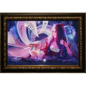 "Картина с кристаллами Swarovski ""Лисица"""