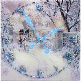 """Часы """"Зимняя дорога"""""""