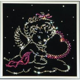 """Картина с кристаллами Swarovski """"Ангелочек"""""""