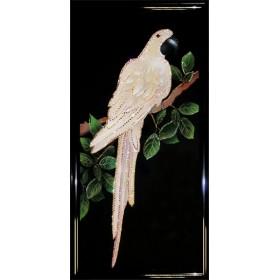 """Картина Swarovski """"Белый попугай"""""""