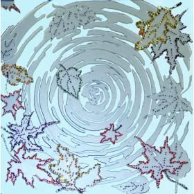 """Картина Swarovski """"Инкрустированное зеркало """"Листья"""""""""""