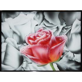 """Картина Swarovski """"Контраст цвета-Роза"""""""