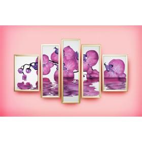 "Картина Swarovski ""Композиция ""Сиреневая орхидея"""""