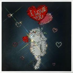 """Картина с кристаллами Swarovski """"Любовь окрыляет"""""""