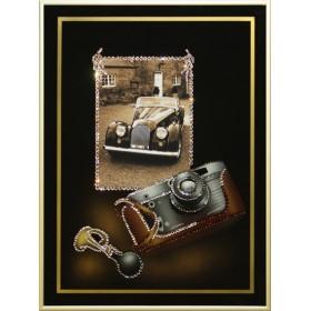 """Картина с кристаллами Swarovski """"Любительская фотография-Ретро"""""""