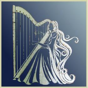 "Картина с кристаллами Swarovski ""Муза гармонии (на зеркале)"""