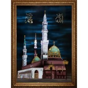 "Картина с кристаллами Swarovski ""Мухаммед Пророк Аллаха (в багете)"""