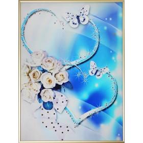 "Картина с кристаллами Swarovski ""Союз сердец"""