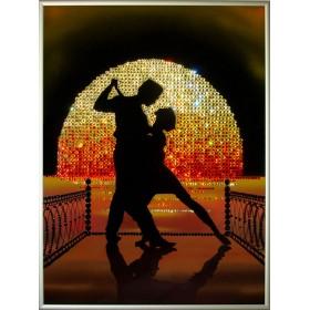 "Картина с кристаллами Swarovski ""Танго на пирсе"""