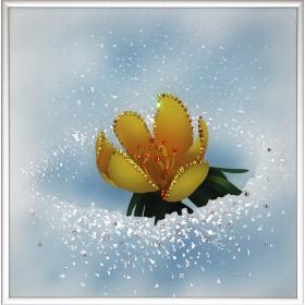 """Картина с кристаллами Swarovski """"Вестник весны"""""""
