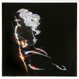 """Картина с кристаллами Swarovski """"Женский силуэт -Очарование"""""""